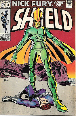 Nick Fury, Agent of SHIELD Comic Book #8, Marvel Comics 1969 FINE+
