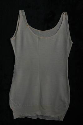 Vintage Ladies Cream Pringle Pure Wool Sleeveless Vest Size Wms (4083)