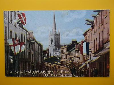 High Street ENNISKILLEN County Fermanagh Ireland 1905 to Miss Sully Castle Combe