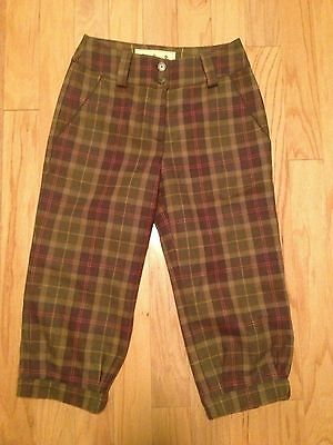 Plaid Barbour Sporting Coverdale Tweed Breeks Size 8 34