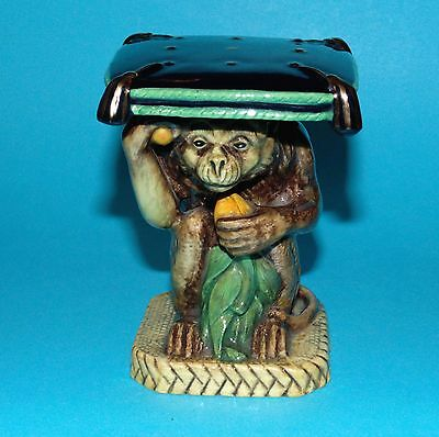 MINTON Figurine 'Garden seat monkey' ornament LImited edition 1st Quality (6810)
