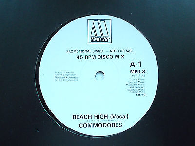 "Commodores Reach High 12"" Promo Single 1982 N/mint"
