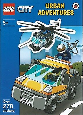 NEW LEGO CITY: Urban Adventures Sticker Activity Book WITH 270 STICKERS-FREE P/P