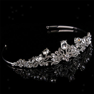 Wedding Bridal Tiara Rhinestone Crystal Crown Pageant Hair Jewelry Headband