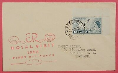 1953 Bermuda St Georges Cancel Fdc Royal Visit Issue