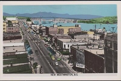 CANADA NEW WESTMINSTER, BC street view RPPC unused