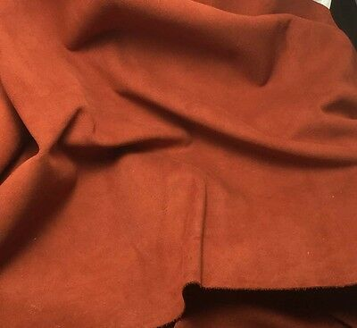 SUEDE RUST cow hide Leather Piece #4