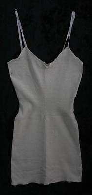 Vintage Ladies Lux Lux 75% Wool Cream Vest (4095)