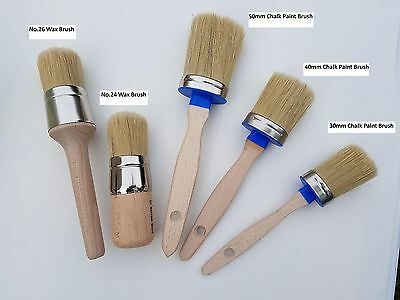 Chalk Paint Brushes and Wax Brushes - White Hog Hair - Presiman Designs