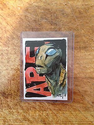 Sketch Card Tyler Cook 'abe' From Hellboy. Artist Of Harrow County
