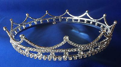 Men's Rhinestone Crown - Plated Sterling Silver with Crystal Rhinestones
