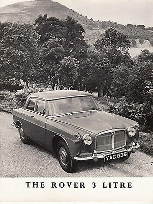 THE ROVER 3 LITRE, REG No.YAC 636, PERIOD PHOTOGRAPH.
