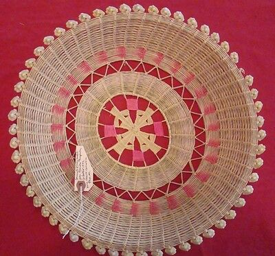 """Seminole Fancy Basket from Florida Everglades collected in 1952 14.5"""" X 2.5 Inch"""