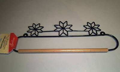 "16"" Or 40Cm Black Metal Dowel Rod Stars Quilt Hanger"