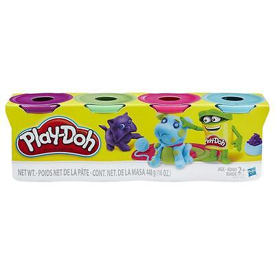New Hasbro Play-Doh Classic Colours Four Pack - Purple, Green, Pink & Blue B6510