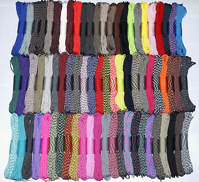 wholesale 550 Paracord Parachute Cord Lanyard Mil Spec Type III 7 Strand Core