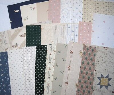 """24 wallpaper sample book pages - 8.5x11+"""" - country mini design patterns"""