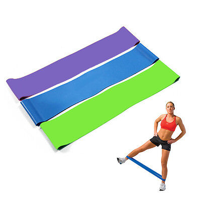 Elastic Resistance Band Loop Stretch Home GYM Fitness Exercise Workout Training