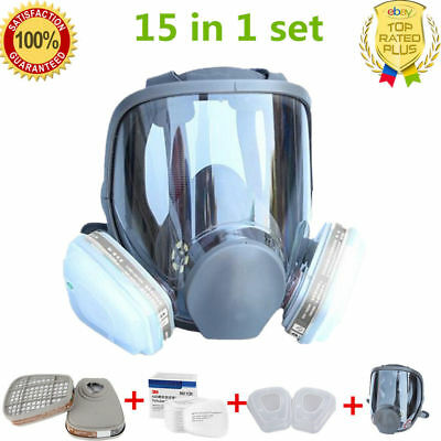 large size For 3M 6800 Gas Mask Full Face Facepiece Respirator Painting Spraying