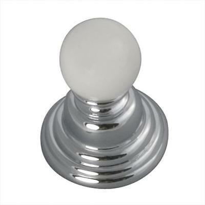 Hickory Hardware P3410-CHW 0.93 In. Gaslight Chrome With White Cabinet Knob