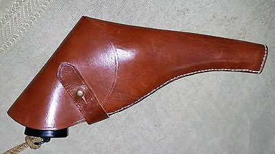 Ww1 Webley Revolver Holster - Light Brown 1903 Pattern Closed Top Repro