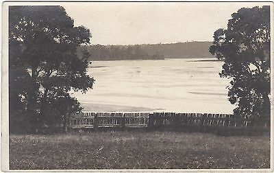 Australia Fence And Beach Scene Real Photo Postcard Where?