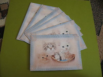 """lot of 16 """"miss you"""" cat postcards by Smith-Western Co(free ship $20 min)"""