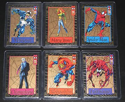 1994 Amazing Spider-Man GOLD WEB Insert Set of 6 Cards NM/M (Jumbo Pack Excl.)