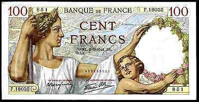France, 100 Francs, 450855851, 9-1-1941, Very Fine - Extremely Fine.