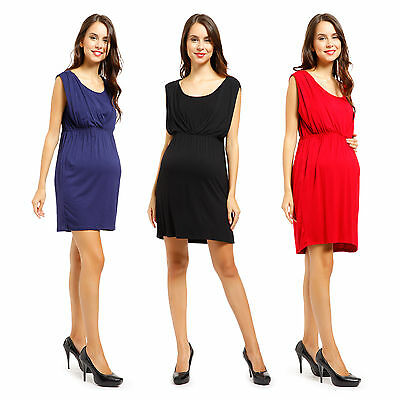 Women Maternity Dress V-Neck Pregnancy Clothes Nursing Dress Size L-XXL