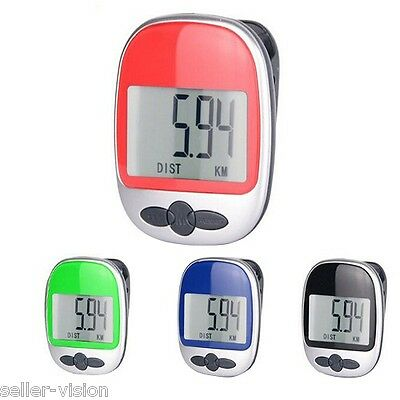 High Quality Pedometer Exercise Monitor Step Counter Diet Aid Walk Jog Run Fit