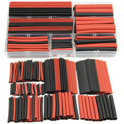 150pcs 2:1 Polyolefin Heat Shrink Tubing Tube Sleeving Wrap Wire Kit Cable SK