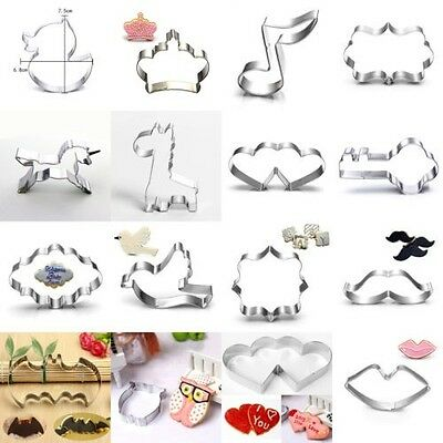 Christmas Stainless Steel Cookie Cutter Biscuit Jelly Party Fondant Cake Mold