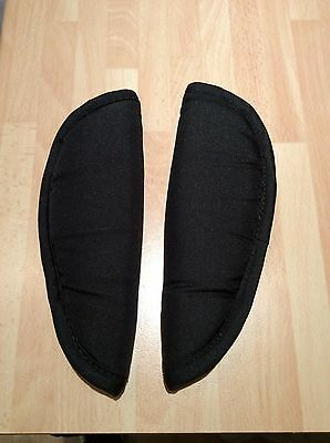 Genuine Oyster Pushchair /Car Seat shoulder chest harness strap cover pads Black