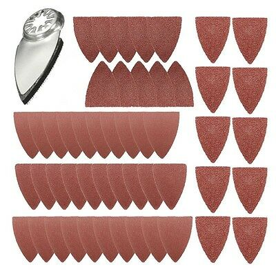 51 Finger Sanding Sheets Pads Paper Set For Fein Oscillating Multitool Saw Blade