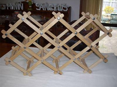 Wooden Light Wood Wine Rack for 8 Bottles Foldable -Very Good Condition