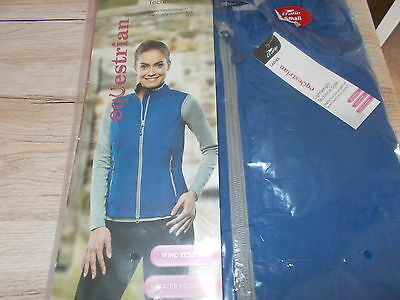 New Crane Blue Ladies Equestrian Lightweight Technical Gilet. Size Small, 8-10