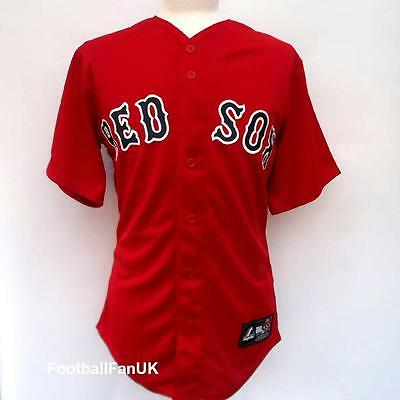 Boston Red Sox Official Majestic Baseball Jersey New Small BNWT MLB Top Shirt