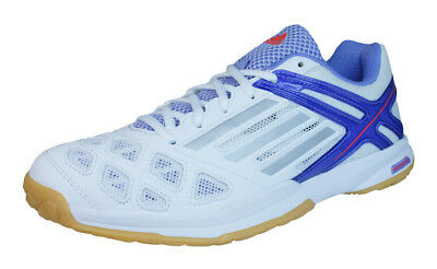 adidas Feather Team Womens Badminton Trainers / Shoes - White