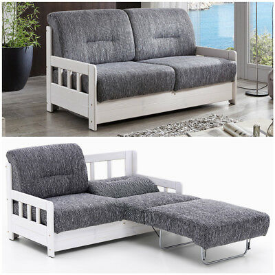 Schlafsofa Campus Bettfunktion Polster Stoff Sofa Couch Massiv Holz Schlafcouch