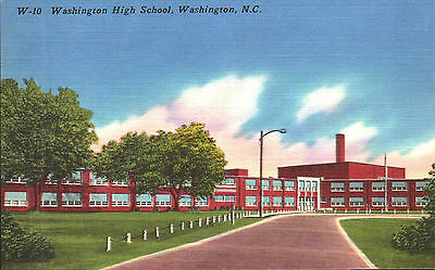 Postcard, Pc High School, Washington North Carolina