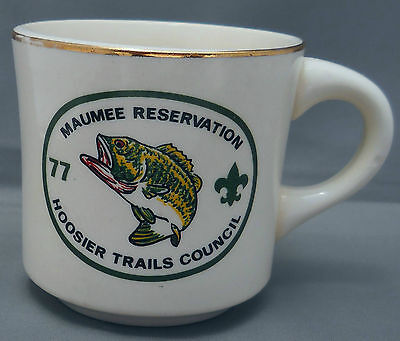 Maumee Reservation Boy Scout Camp Hoosier Trails Council 1977 Coffee Mug  Fish