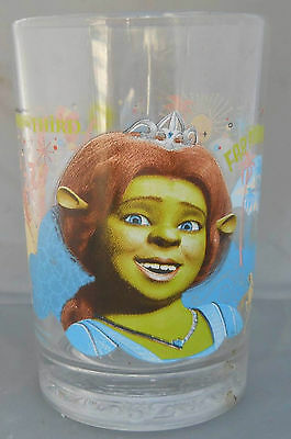 "Shrek III McDonald's Glass Fiona 2007 Promotion  5"" Tall 3.5"" Diameter 16 ounces"