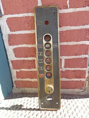 Vintage Art Deco Era Brass Elevator Panel Plaque Architectural Building