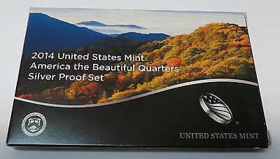 Usa America Us Mint State Quarters Beautiful 2014 Im Blister Proof Set Silber Pp