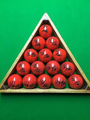 .GREAT GIFT MARK SELBY  2014 And 2016 WORLD CHAMPION SIGNED NEW RED SNOOKER BALL