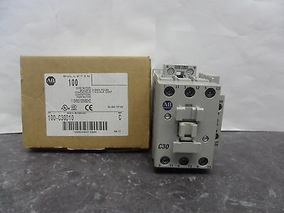 New Allen Bradley 100-C30D10 3 Pole Contactor 110/120 Volts 50/60 Hz Series C NI
