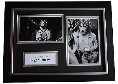 Roger Daltrey Signed A4 FRAMED photo Autograph display The Who Music AFTAL & COA