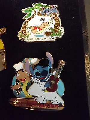 Disney Lilo & Stitch Lot Of 2 Limited Edition April Fools Day 2006 & Elvis Le