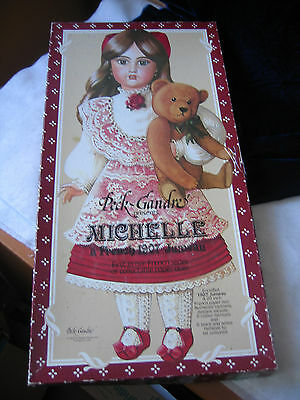 """1983 Peck-Gandre Paper Doll / Michelle / French 1907 Jumeau / 20"""""""